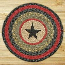 Star II Americana Country Theme  Braided Chair Pads - Jute - by Earth Rugs