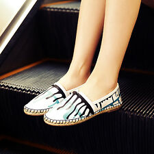 Elegant Womens Ballet Flats Slip On Casual Loafers Leisure Boat Shoes Walking