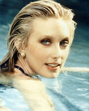 MORGAN FAIRCHILD WET HAIR POSING IN SWIMMING POOL PHOTO OR POSTER