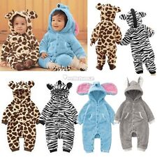 BABY TODDLER ANIMAL ROMPER ALL IN ONE SUIT & HAT SET NEWBORN TO 24 MONTHS GIFT