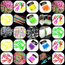 New Colourful Rubber Band Loom Making Kit S-Clips Y - Tool Hook & Bands Inc ML