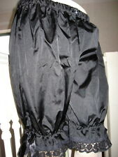 COOL NEW Gothic,Lolita,Rock All Black Sissy Long Silk,lace Bloomers,Pantalooms