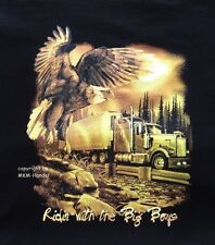 Truck Trucker Camion Country Western Eagle T-SHIRT TG S-XXXL