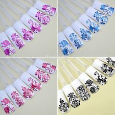 108pcs 3D Flower Silver Nail Art Stickers Decals Stamping Tips Decoration Tools