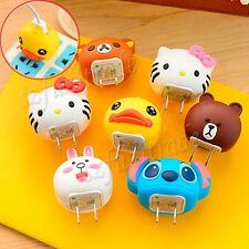 Cute Animal Head US Main Plug Wall Charger Power Adapter For Moto X G HTC ONE M8