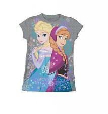 Youth Charcoal Disney Movie Frozen Elsa and Anna Alpine Summer T-Shirt Tee