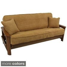 Microsuede Futon Cover Set with Double Cording