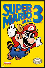 "SUPER MARIO BROS. 3 - FRAMED POSTER / PRINT (NES GAME COVER) (SIZE: 24"" X 36"")"