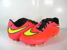 NIKE JR HYPERVENOM PHELON FG Bright Crimson/Volt -599062 690- BOYS/GIRLS