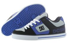 DC PURE XE 301722-1BN LEATHER BLACK NAUTICAL BLUE SKATEBOARDING SHOES MEN