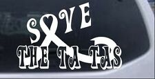 Save The Ta Tas Breast cancer ribbon Car or Truck Window Laptop Decal Sticker