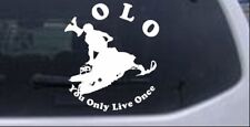 YOLO You Only Live Once Snowmobile Car or Truck Window Laptop Decal Sticker