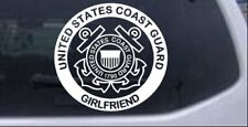 United States Coast Guard Girlfriend Car or Truck Window Laptop Decal Sticker