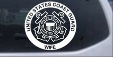 United States Coast Guard Wife Car or Truck Window Laptop Decal Sticker
