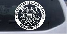 United States Coast Guard Grandmother Car or Truck Window Laptop Decal Sticker