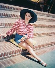 NORMA SHEARER IN HAT AND SHORTS COLOR PHOTO OR POSTER