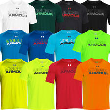 Under Armour 2015 Mens Core Wordmark Graphic T Shirt UA Gym HeatGear Tee