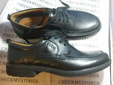 NEW  ECCO Mens TURN Black Leather Apron Toe Oxford Dress Shoes 510084-21001