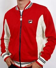 Fila Vintage Settanta Borg BJ Track Top Mk1 Red/Cream/Navy M,L,XL,2XL