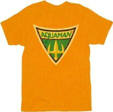 Adult Orange Hero Aquaman Shield from Batman: The Brave And the Bold T-shirt Tee