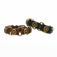 2014 Vintage Jewellery Leather Handmade PU Medieval Cross Charm Wrap Bracelet