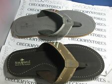 NIB Margaritaville Mens Costal Classic Sea Flip Flop Sandal Gray Brown MANYSIZES