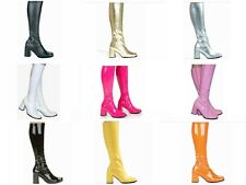 Seventies Style Knee High Boots - 1970s Fashion Boots - Sizes 3 UK - 9 UK