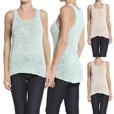 Themogan Scoop Neck Ribbed Sweater Tank Chunky Knit Sleeveless Pullover Top