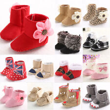 New Newborn Warm Baby Girl Anti-slip Socks Slipper Shoes Boots 0-18 Months