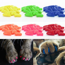 Hot Sale Colorful Pet Dog Cat Soft Kitten Paw Claw Control Nail Caps Cover+ Glue