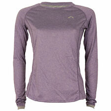 More Mile Womens More Long Sleeve Tech T-Shirt In Purple From Get The Label