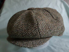 GREEN HARRIS TWEED 100% WOOL NEWSBOY VICTORIAN EDWARDIAN PEAKY BLINDERS CAP