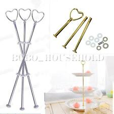 2 3 Tier Heart Wedding Cake Fruit Plate Handle Hareware Center Stand Fittings