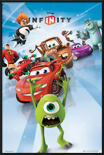 DISNEY INFINITY - FRAMED MOVIE POSTER / PRINT (PIXAR CHARACTERS - CARS...)