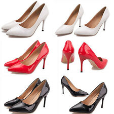 Women's Sexy Pointy Toe Pumps Slip On High Heel OL Shoes Party Elegant Stilettos