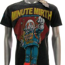 m252b Minute Mirth T-shirt Tattoo Skull Tin Toy Robot Space Casual Cotton Tee
