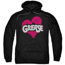 Grease Musical Travolta Olivia Newton-John Movie Heart Adult Pull-Over Hoodie