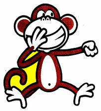 """5-9"""" BOBBY JACK MONKEY  WALL SAFE STICKER CHARACTER BORDER CUT OUT"""