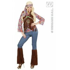 Ladies Psychedelic Hippie Woman Costume Outfit for 60s 70s Hippy Fancy Dress
