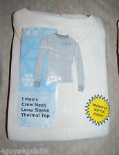 MENS Thermal L/S Shirt OFF WHITE Crew Neck M 38-40 L 42-44 XL 46-48 WINTER