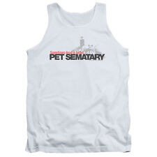 Pet Semetary Horror Novel Movie Stephen King Logo Adult Tank Top Shirt