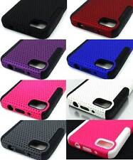 For Blackberry Z10 Colored Perforated Hybrid Double Layer Cover Case Accessory