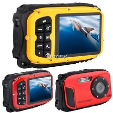 "16MP Waterproof Digital Camera with Video,Underwater DV,PC CAM,2.7"" LCD Yellow"