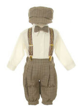 New Baby Toddler Boys Beige Knickers Vintage Suit Set Outfit Easter Christmas