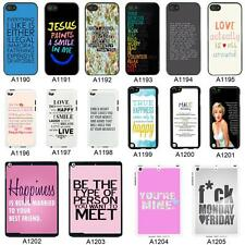 SAYINGS QUOTES COVER CASE FOR APPLE IPHONE IPOD AND IPAD - A6