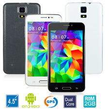 """4.5""""Android 4.2.2 MTK6572 Dual Core Unlocked AT&T WCDMA GPS FWVGA 5MP Smartphone"""