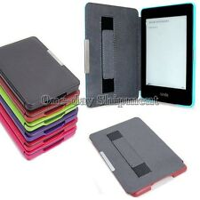 Smart Sleep/Wake Leather Case Cover For Amazon Kindle Paperwhite+Hand Strap