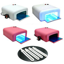 PRO 36W UV NAIL DRYER LAMP LIGHT GEL CURING TIMER 4 x 9W BULBS SALON ART NAILART