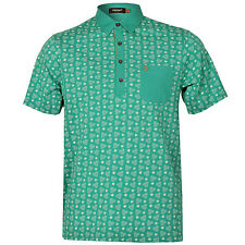 Mens Farah Vintage The Mayer Retro Circle Polo Shirt In Mint From Get The Label