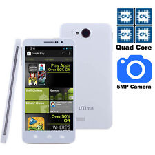 "5"" Unlocked Android 4.2 Smart Phone QuadCore 3G/GSM GPS WIFI AT&T Straight Talk"